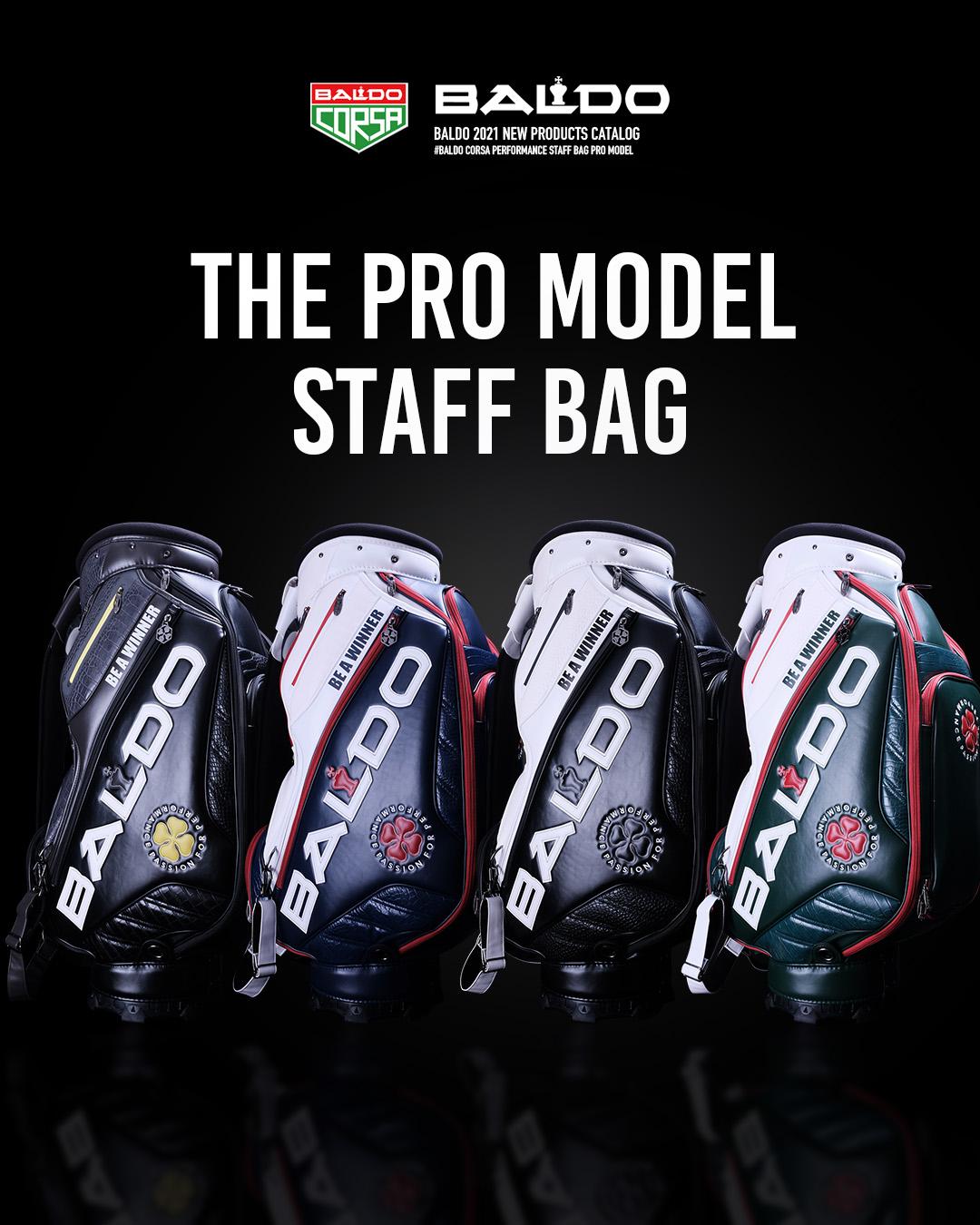四大メジャー大会をイメージしてデザインした、THE PRO MODEL STAFF BAG